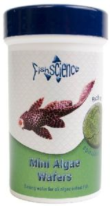 FishScience Tropical fish Mini Algae Wafers 50g Fish Science Bottom Feeders